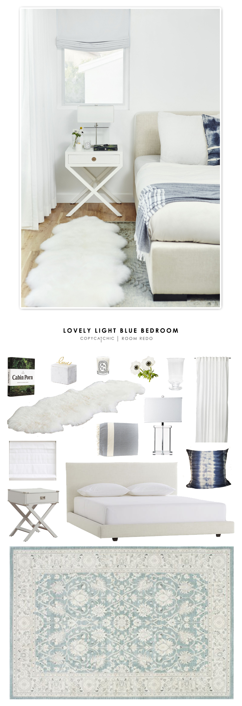 Copy Cat Chic Room Redo | Lovely Light Blue Bedroom - Copy ...