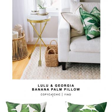 Lulu and Georgia Banana Palm Leaf Pillow