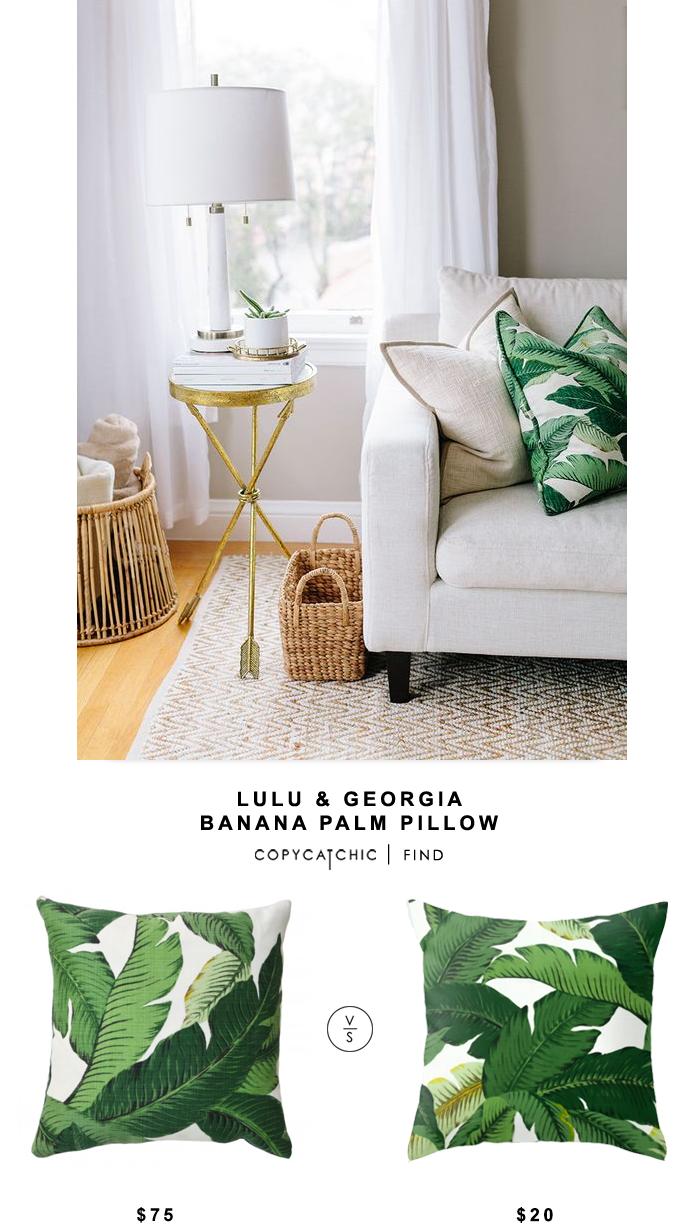Lulu And Georgia Banana Palm Leaf Pillow Copycatchic