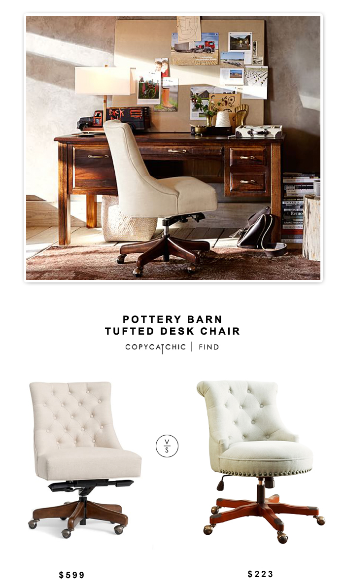 Pottery barn tufted desk chair copycatchic - Pottery barn office desk ...