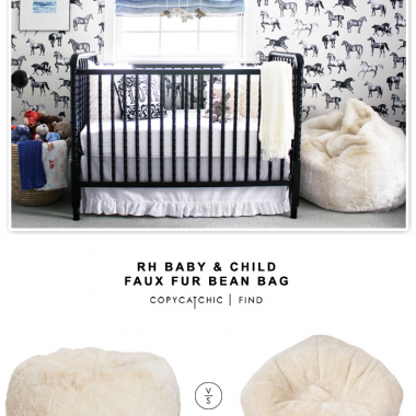 RH Baby & Child Faux Fur Bean Bag