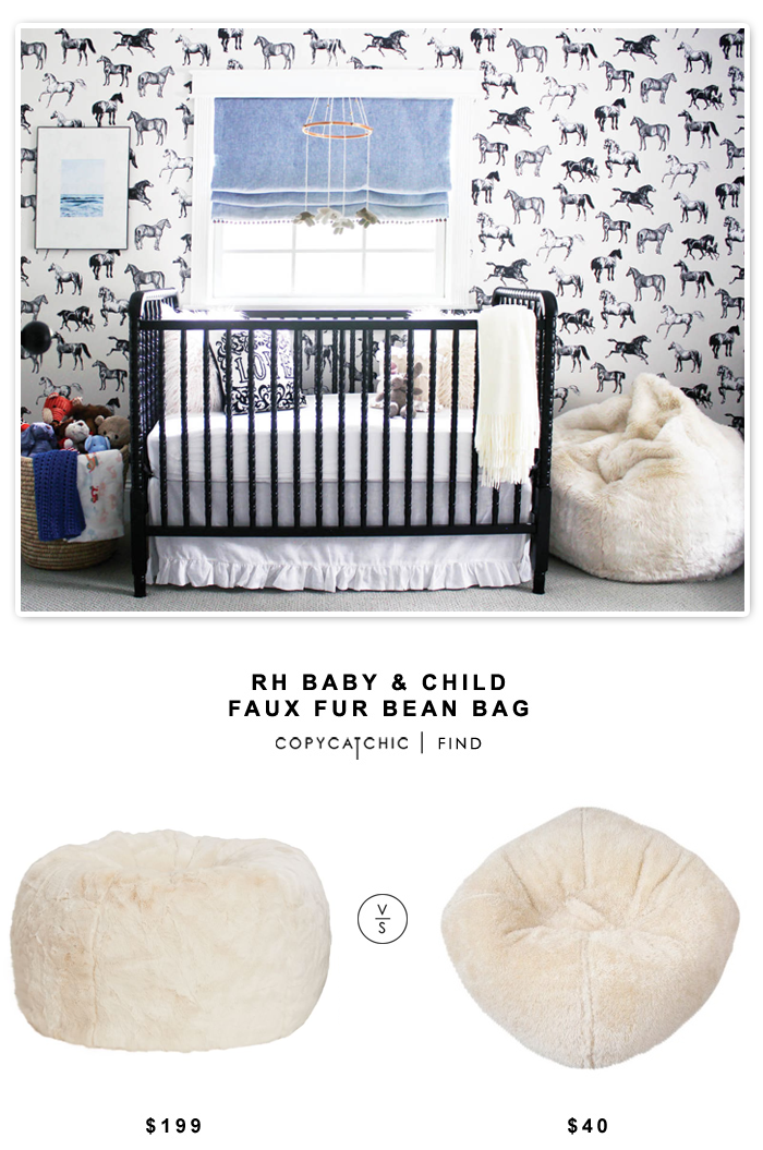 RH Baby Child Faux Fur Bean Bag 199 Vs Target Circo Chair 40