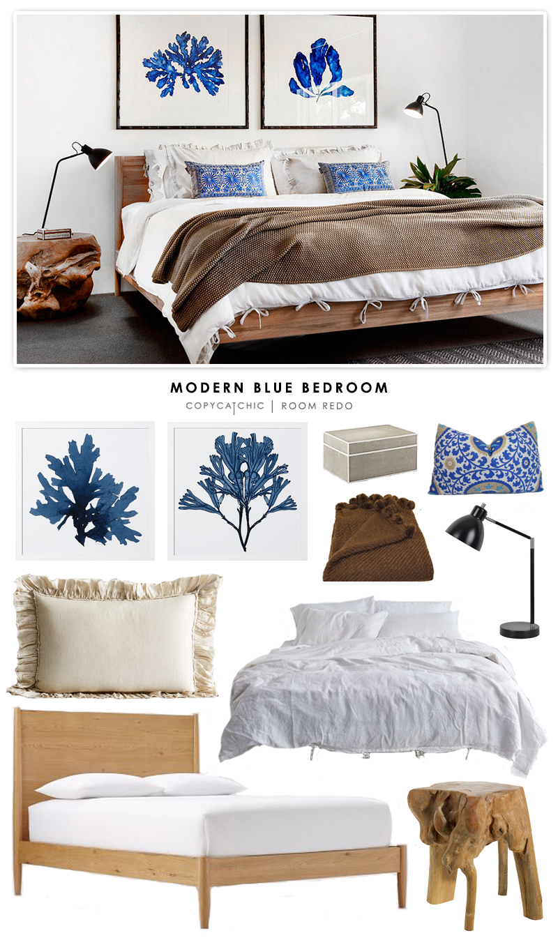 Copy Cat Chic Room Redo Modern Blue Bedroom