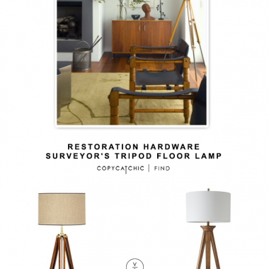 Restoration Hardware Surveyor's Tripod Floor Lamp