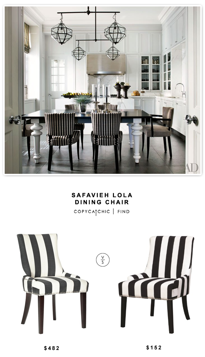 Safavieh Lola Dining Chair $482 vs Coaster Striped Chair $152 | look for less by Copy Cat Chic