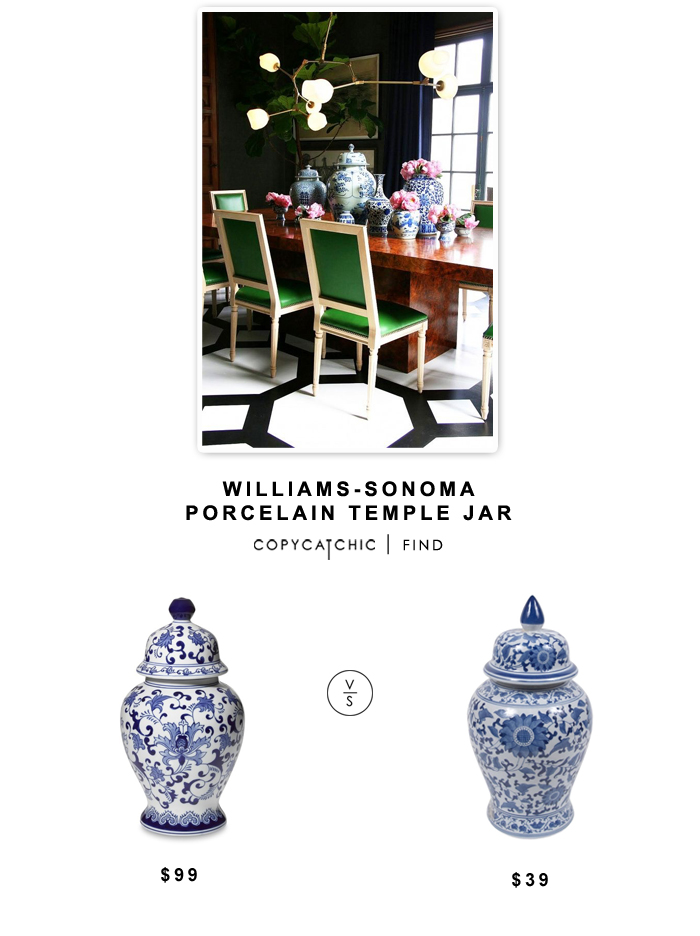Williams-Sonoma Porcelain Temple Jar $99 vs Living Spaces Ginger Jar $39 | Look for less by Copy Cat Chic