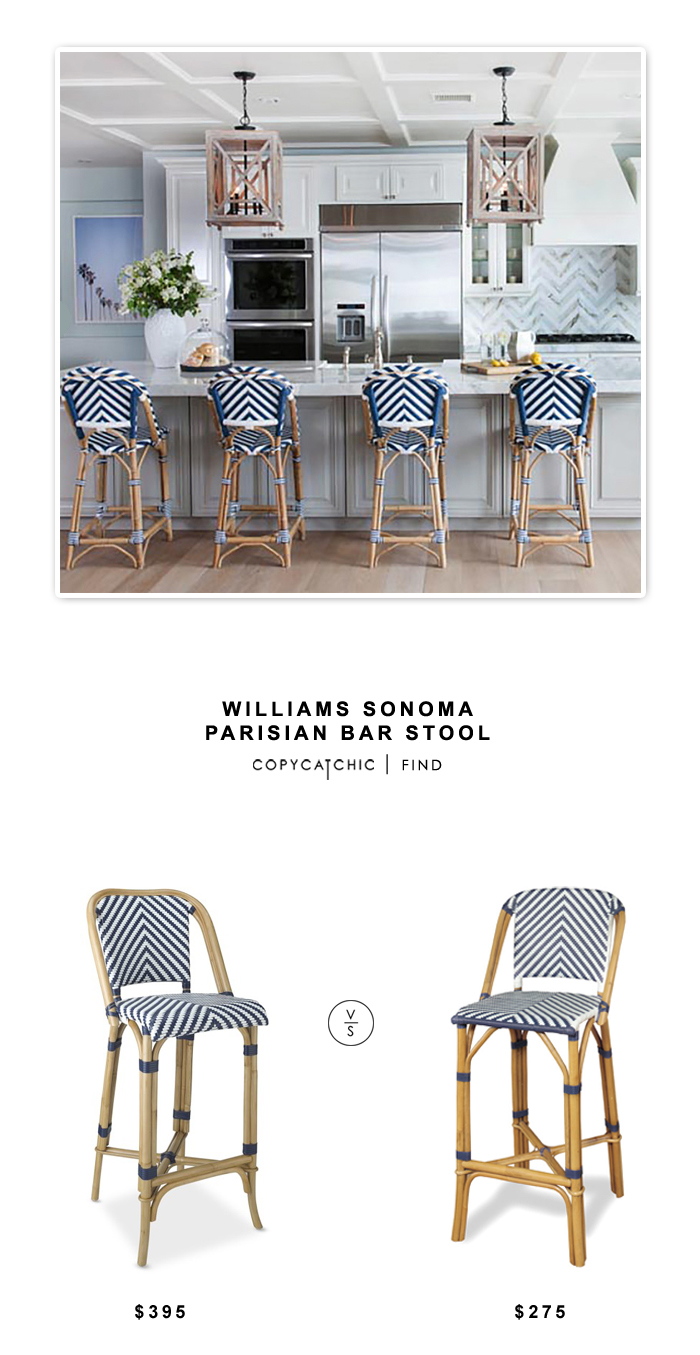 williams sonoma parisian bar stool 395 vs overstock progressive rattan bar stool 275