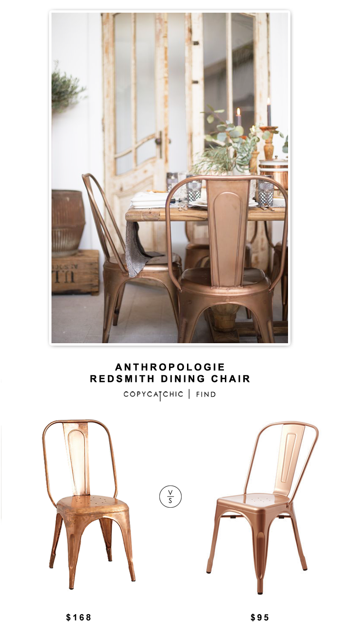 Anthropologie Redsmith Dining Chair $163 vs Wayfair Garvin Side Chair $189 for a set of two | Copy Cat Chic Look for Less