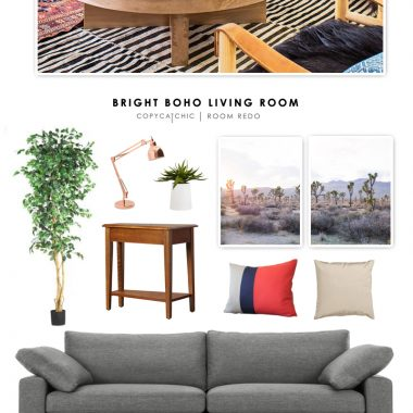 Copy Cat Chic Room Redo | Bright Boho Living Room