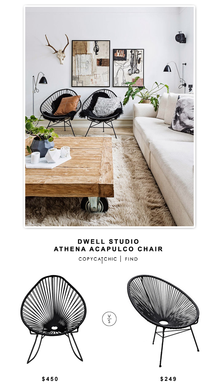 Dwell Studio Athena Acapulco Chair $450 vs Houzz Acapulco Chair $249 | Copy Cat Chic look for less price comparison replica