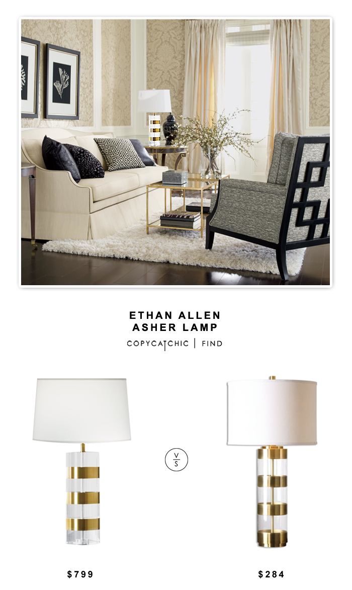 Ethan Allen Asher Table Lamp $799 vs Lulu & Georgia Linley Lamp $284 | Copy Cat Chic look for less