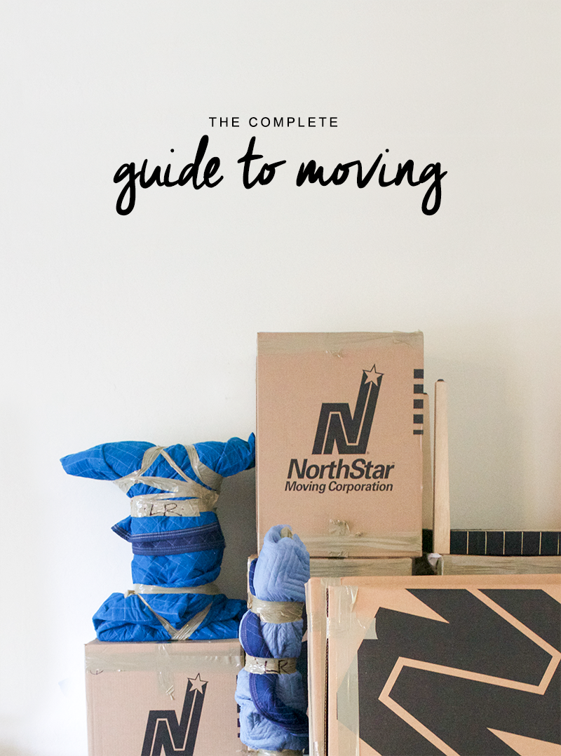 The complete guide to moving including a moving weekly checklist | Copy Cat Chic and NorthStar Moving