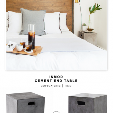 Inmod Castor Cement End Table