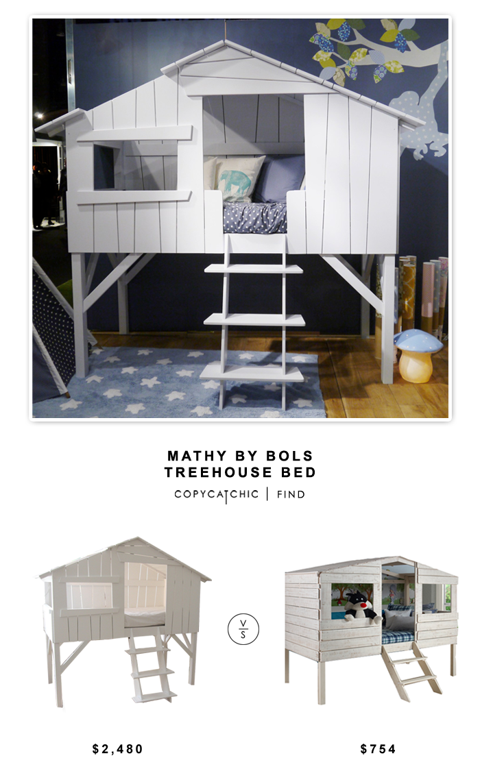 Mathy by Bols Treehouse Bed $2,480 vs Goedecker's Donco Kids Treehouse Loft $754 | Copy Cat Chic look for less