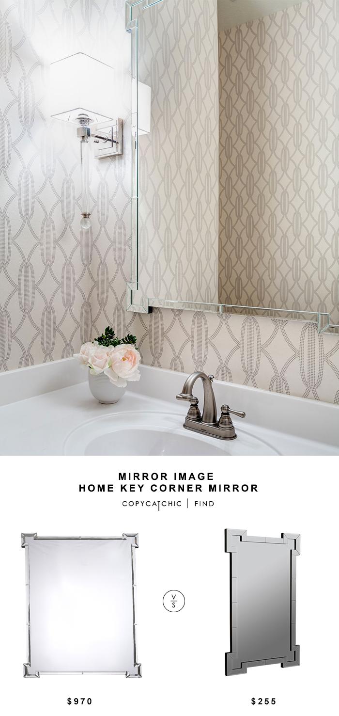Zinc Door Mirror Image Home Key Corner Mirror - copycatchic
