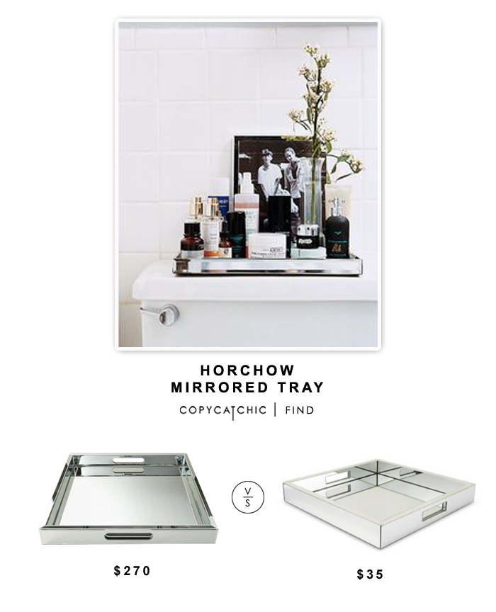 Horchow Regina Andrew Design Large Mirrored Tray $270 vs Target Threshold Mirrored Tray $35 | Copy Cat Chic look for less