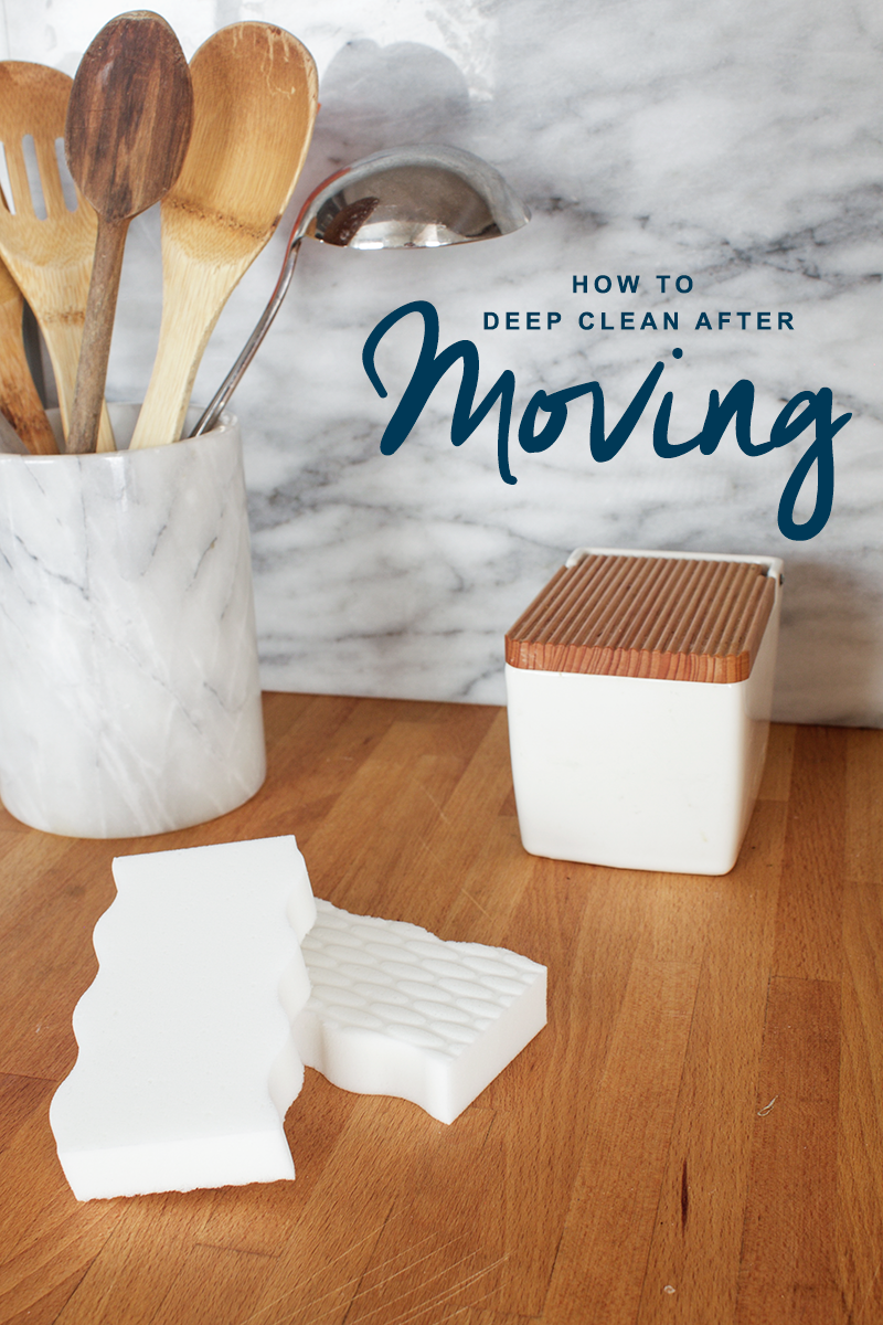 How to deep clean your rental home after moving out with Copy Cat Chic and Mr. Clean Magic Eraser