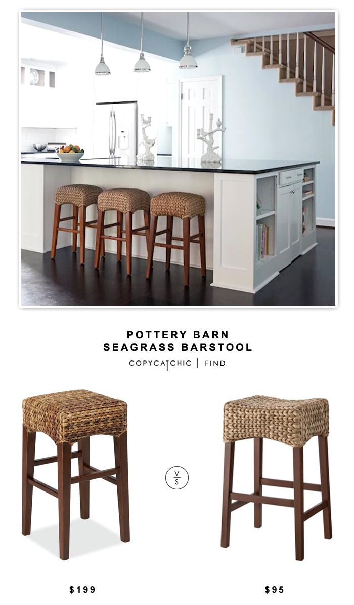 Very Pottery Barn Seagrass Barstool - copycatchic OA76