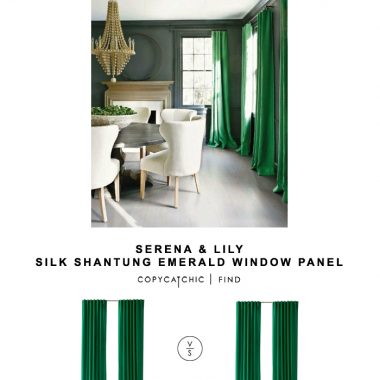 Serena and Lily Silk Shantung Emerald Window Panel