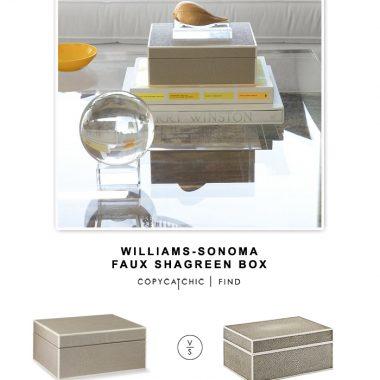 Williams-Sonoma Faux Shagreen Box
