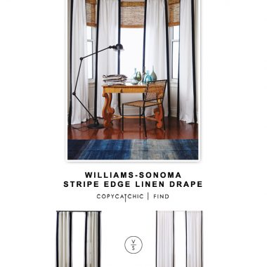 Williams-Sonoma striped edge linen drape