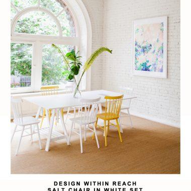 Design Within Reach Salt Chair in White