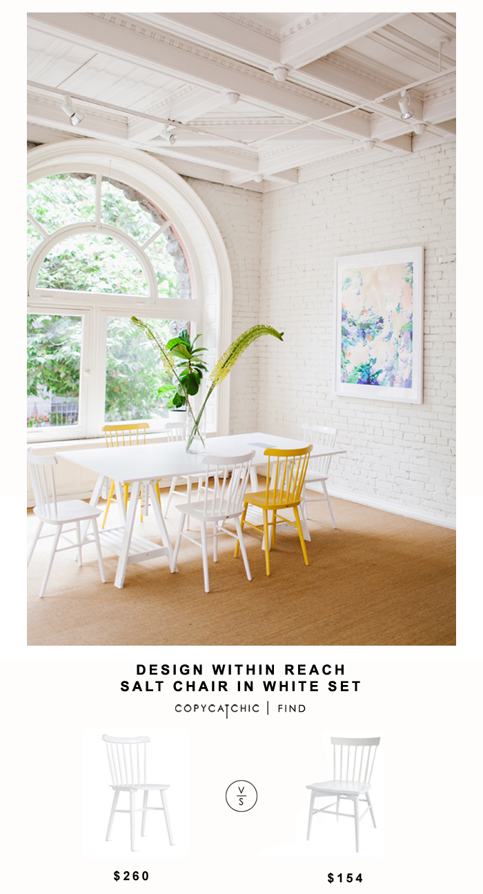 Design within Reach Salt chair in White Set for $260 vs  Hayneedle Sauder Cottage Road Slate Chair Set for $154 | Copy Cat Chic look for less budget decor