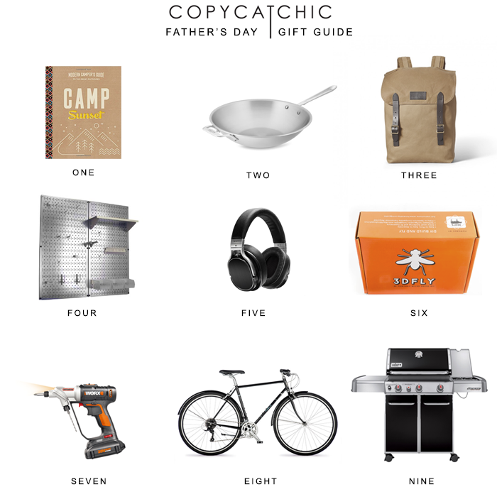 A gift guide for those well deserving father's in your life for Father's Day. Something for everyone and every budget. Copy Cat Chic Father's Day Gift Guide
