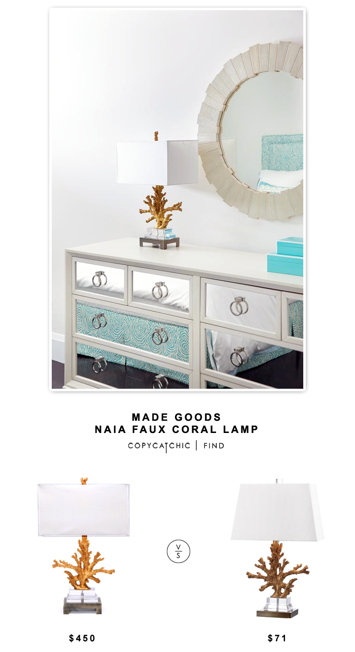 Clayton Gray Made Goods Naia Faux Coral Lamp for $450 vs Safavieh Lighting Collection Bashi Table Lamp (set of 2) for $142 | Copy Cat Chic look for less.