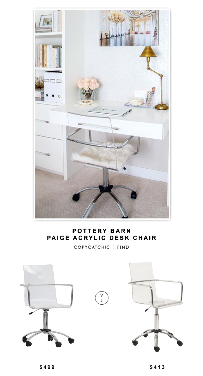 Pottery Barn Paige Acrylic Desk Chair  sc 1 st  copycatchic : acrylic desk chairs - Cheerinfomania.Com