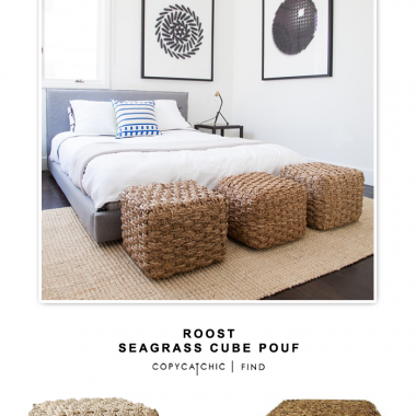 Roost Seagrass Cube Pouf