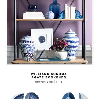 Williams Sonoma Agate Bookends