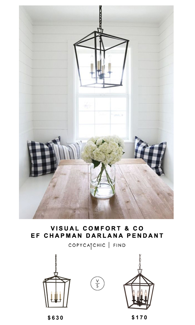 Visual Comfort Co EF Chapman Darlana Pendant for $630 vs Wayfair Transglobe Lighting 4 Light Pendant for $170 Copy Cat Chic look for less budget home decor