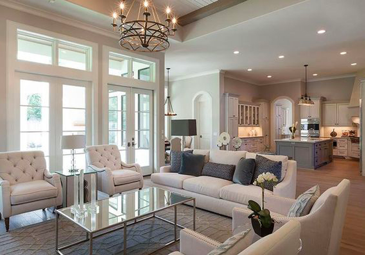 A serene ivory living room designed by Frankel Building Group recreated for less by copycatchic luxe living for less budget home decor & design lookforless