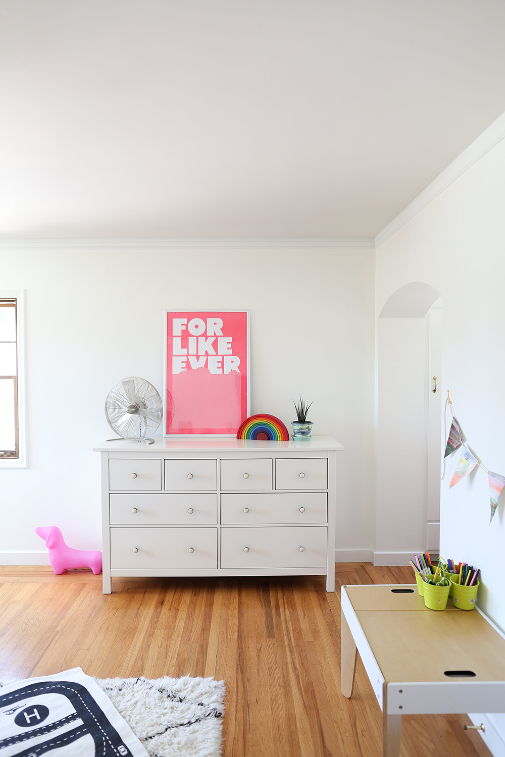 Stunning Copy Cat Chic Boy and Girl shared kid us bedroom using neutrals whites and lots