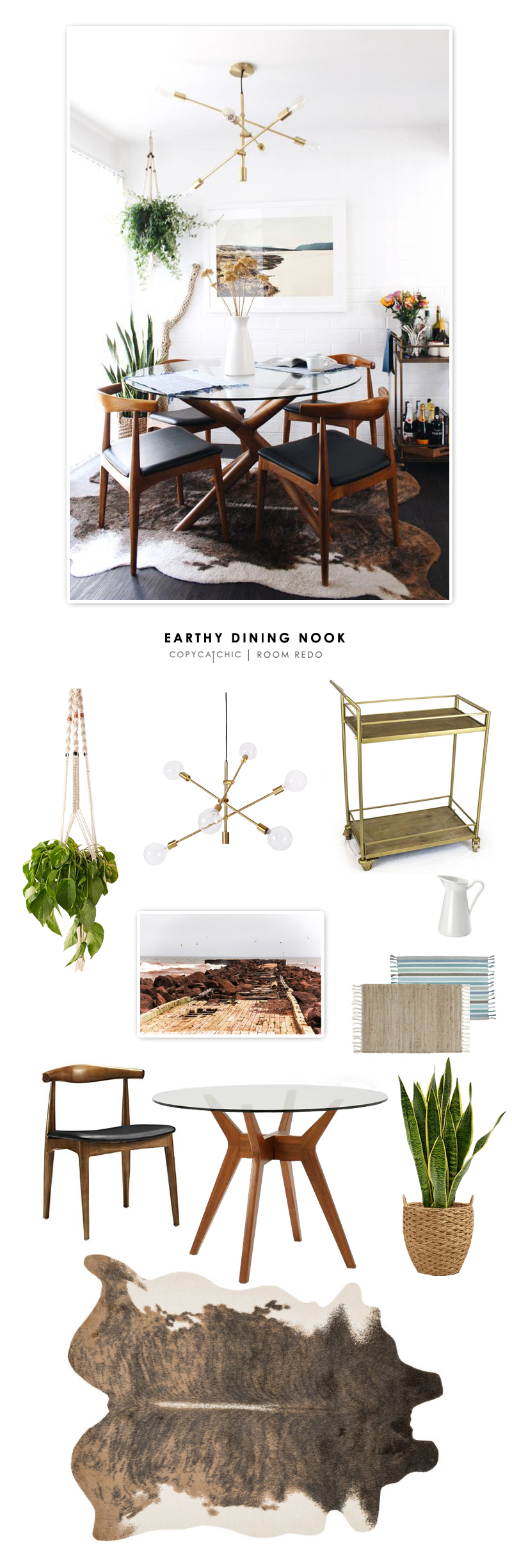 Copy Cat Chic Room Redo | Earthy Dining Nook - copycatchic
