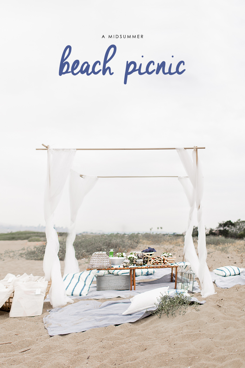 A Midsummer beach picnic hosted by Copy Cat Chic and HejDoll. Picnic ideas for a summer beach party. | The Blog Exchange Bay Area blogger network