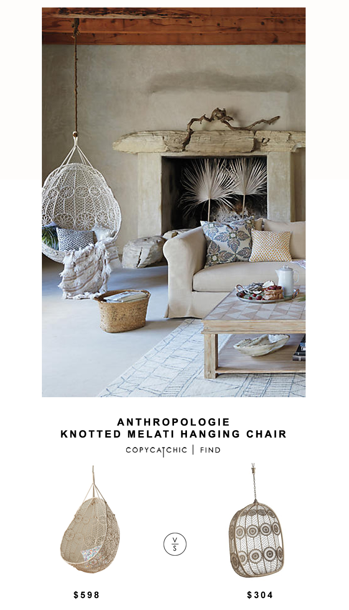 Anthropologie Knotted Melati Hanging Chair Copycatchic