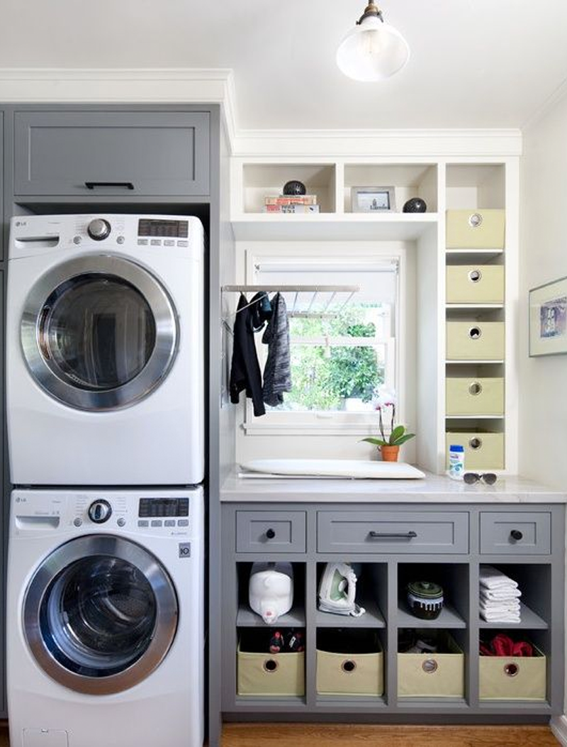 giving the laundry room a quick update with brand new lgusa sidekick and washer chic laundry room
