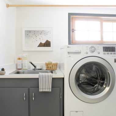 Laundry Room Progress and an LG Giveaway
