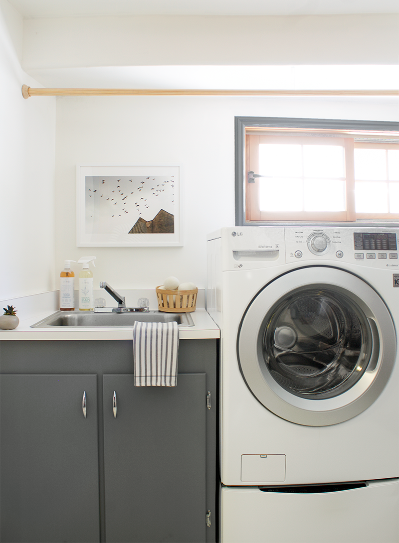 Laundry room update with @copycatchic & @lgusa Creating a chic gray laundry room on a budget and getting 2 washers for the price of 1 with the LG SideKick.