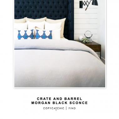 Crate and Barrel Morgan Black Sconce