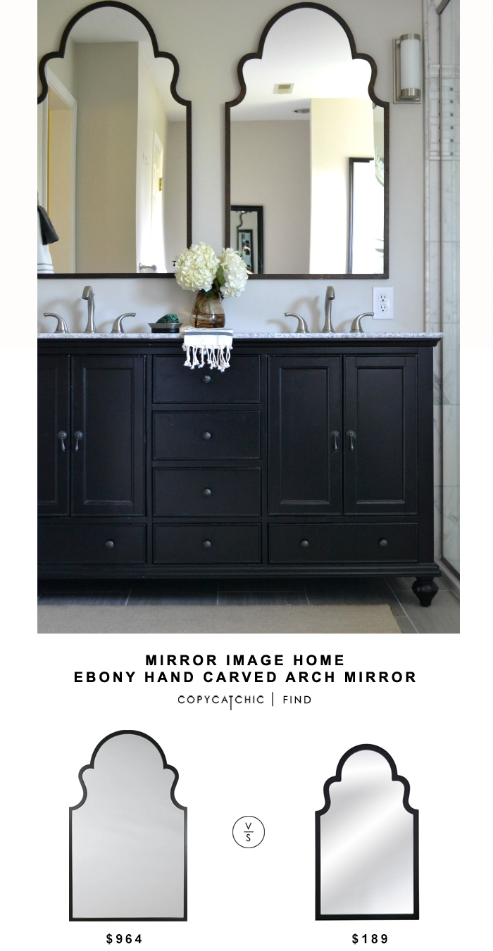 Mirror image home ebony hand carved arch mirror copycatchic for Home img