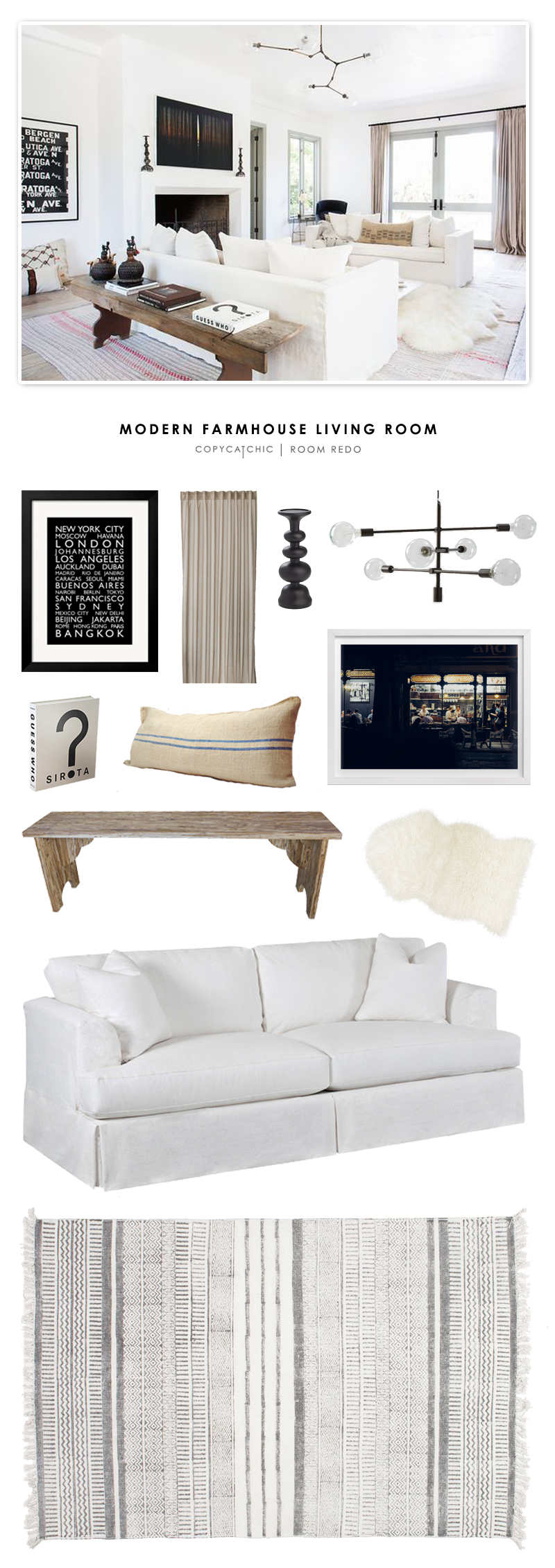 Copy Cat Chic Room Redo Modern Farmhouse Living Room