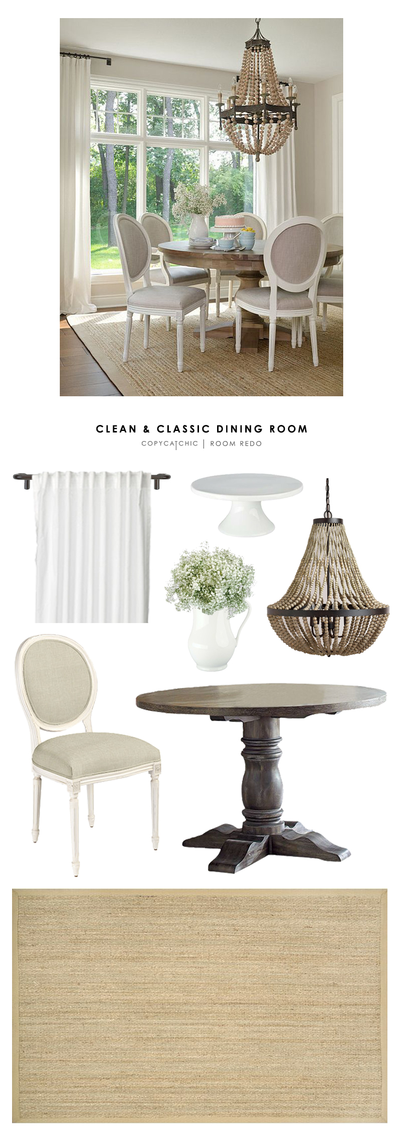 copy cat chic room redo clean and classic dining room copycatchic