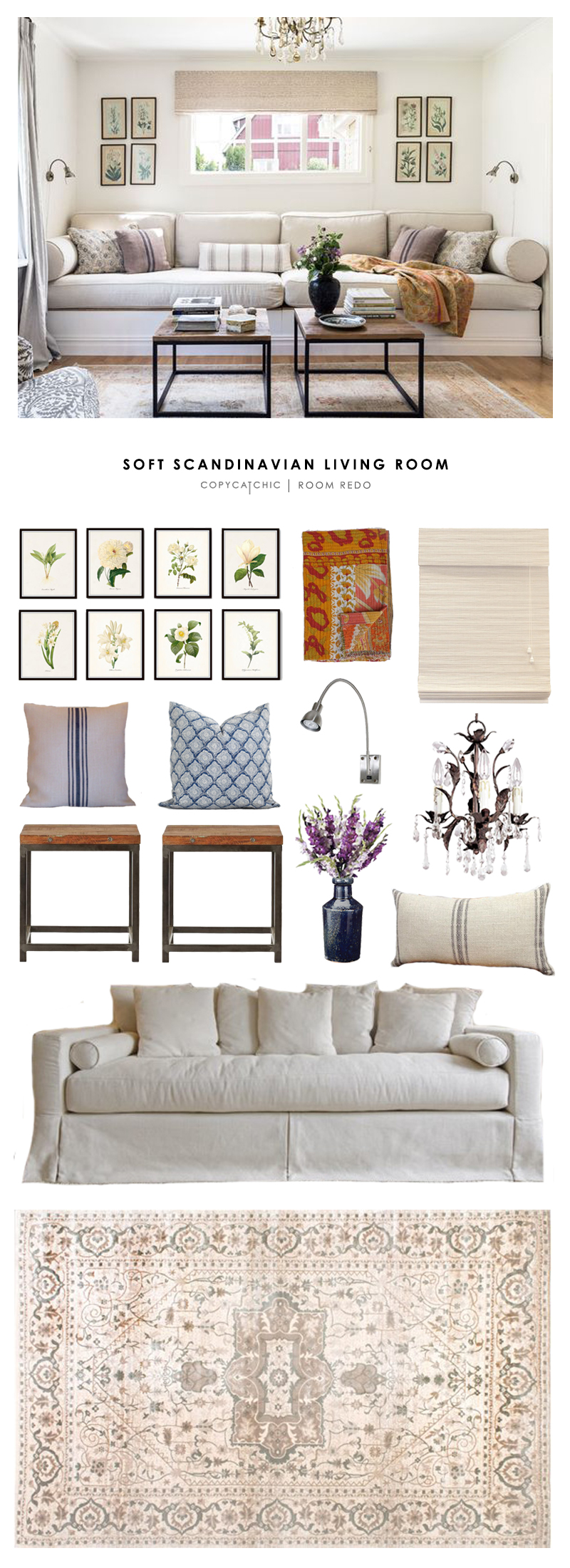 Copy cat chic room redo soft scandinavian living room for Living rooms for less