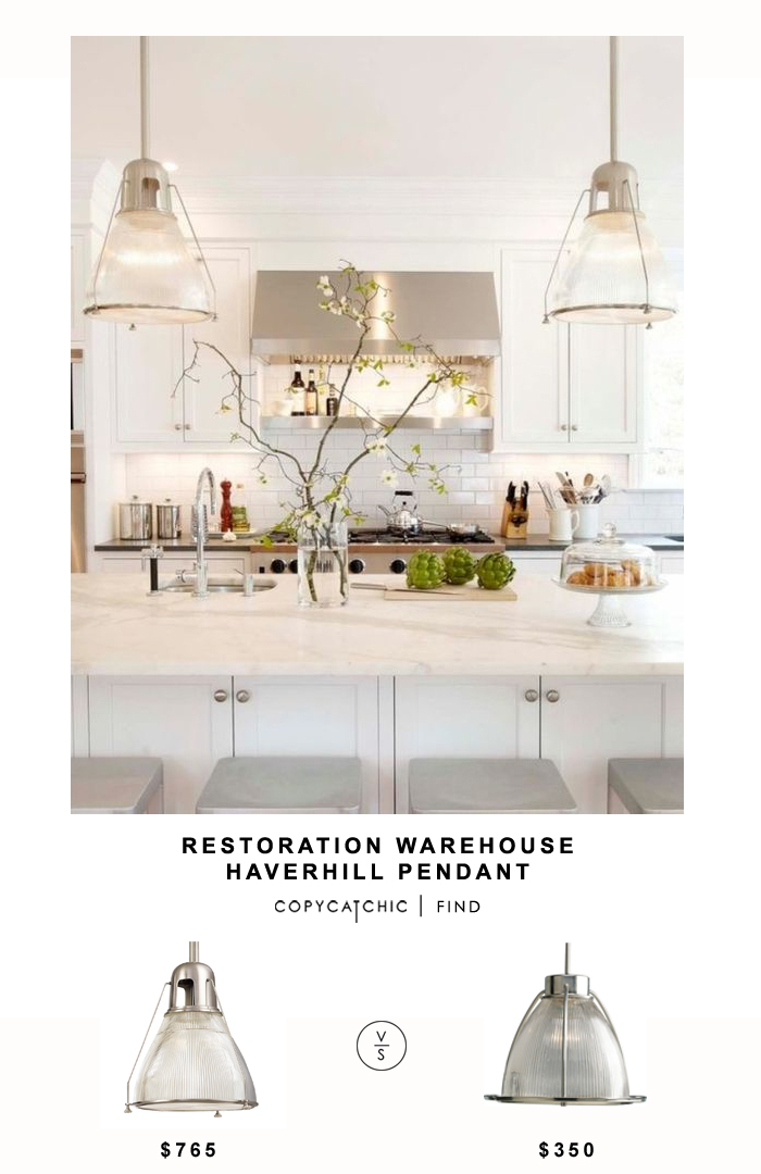Restoration Warehouse Haverhill Pendant for $765 vs Wayfair Progress Lighting 1 Light Pendant for $350 @copycatchic look for less budget home decor & design