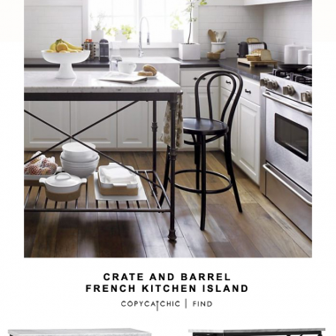 Crate and Barrel French Kitchen Island for $1,300 vs Wayfair Latitude Run Kitchen Island for $230 | @copycatchic look for less budget home decor and design