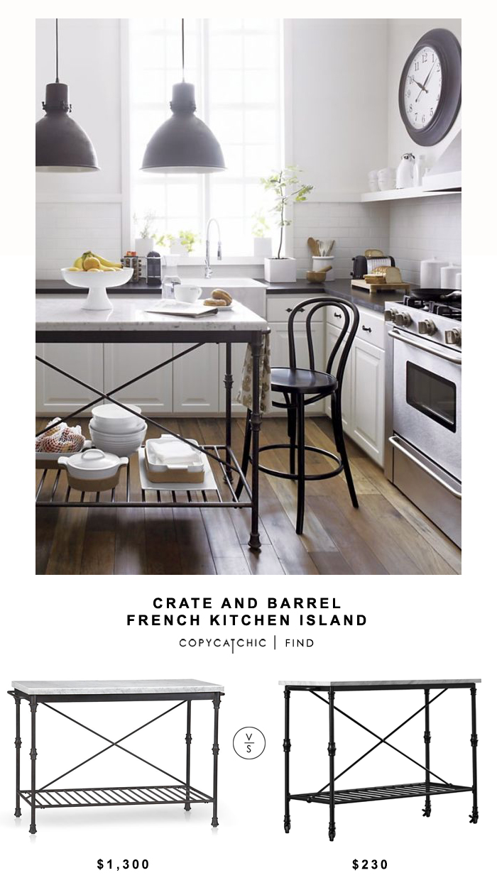 Crate and Barrel French Kitchen Island - copycatchic