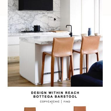 Design Within Reach Bottega Barstool for $990 vs All Modern Eurostyle Shen Barstool (set of 2) for $520 | @copycatchic look for less budget home decor